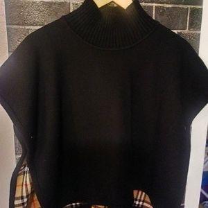 Reversible Vintage Check Merino Wool Jacquard Ponc